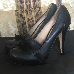 L.A.M.B loafers heels Platform shoes 9.5 B EUC